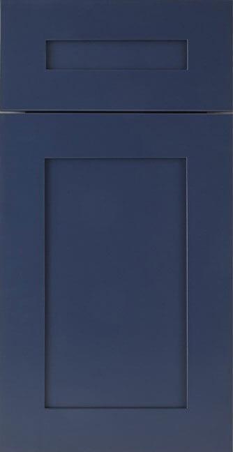 Unassembled Blue Shaker cabinets